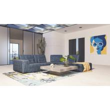 Accenti Italia Enjoy - Modern Italian Dark Blue Leather Sectional Sofa