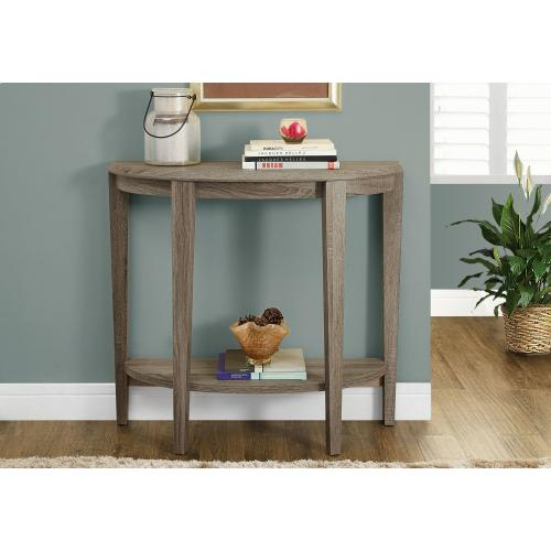 """ACCENT TABLE - 36""""L / DARK TAUPE HALL CONSOLE"""