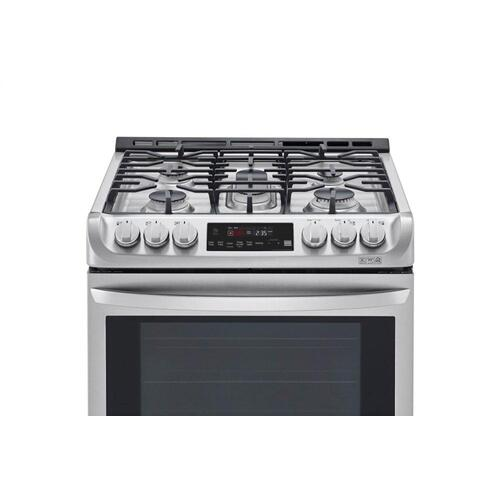 6.3 cu. ft. Smart wi-fi Enabled Dual Fuel Slide-in Range with ProBake Convection® and EasyClean®