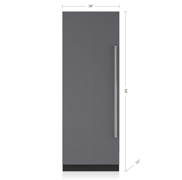 "Subzero30"" Designer Column Refrigerator With Internal Dispenser - Panel Ready"