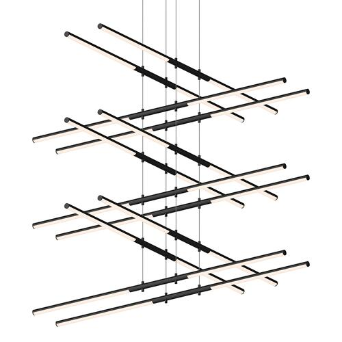 Sonneman - A Way of Light - Tik-Tak® LED Pendant [Size=Stack 6-Tier, Color/Finish=Satin Black]