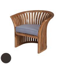See Details - Teak Barrel Chair in Antique Smoke