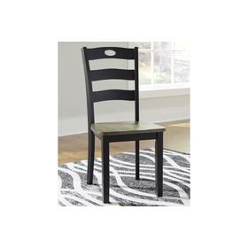 Froshburg Dining Room Side Chair Grayish Brown/Black