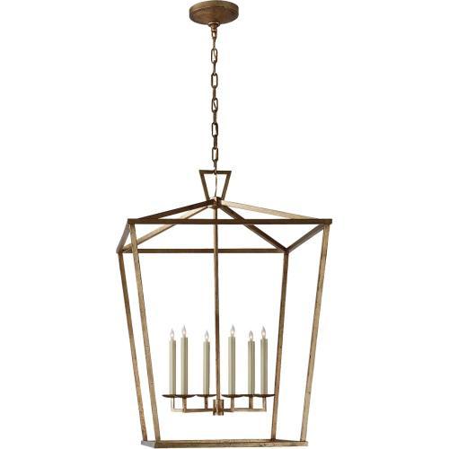 Visual Comfort CHC2177GI E. F. Chapman Darlana 6 Light 29 inch Gilded Iron Foyer Lantern Ceiling Light, E.F. Chapman, Extra Large