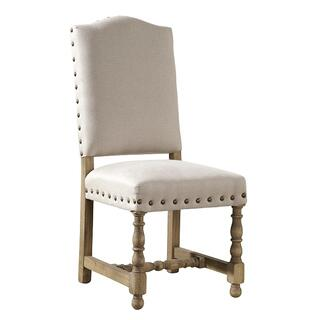 See Details - Linen Madrid Chair with Nailheads
