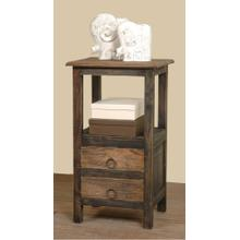 CC-TAB168TT-BWRW  Two Drawer End Table