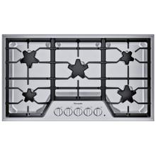 SGSX365TS ® offers an impressive 36-inch gas cooktop with 5 patented Star® burners, including a center-mounted power burner, 2 ExtraLow® Select simmer burners, and 58,200 BTUs of overall heat output. 36-Inch Masterpiece® Star® Burner Gas Cooktop, Ext