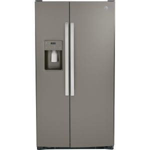 GE® 25.3 Cu. Ft. Side-By-Side Refrigerator - FINGERPRINT RESISTANT SLATE