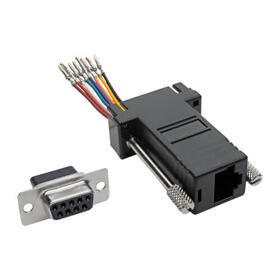 DB9 to RJ45 Modular Serial Adapter (F/F), RS-232, RS-422, RS-485