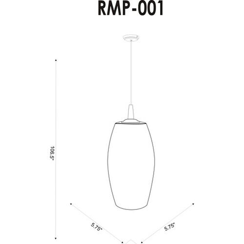 """Rampart RMP-001 10""""H x 5.75""""W x 5.75""""D"""