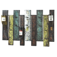 Offset Panel Nine Wine Bottle Wall Holder