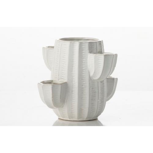 Alfresco Home - Cactus Five Pocket Strawberry Jar (min. 4 pcs) - White
