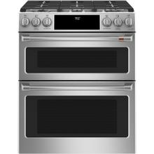 "Café 30"" Slide-In Front Control Dual-Fuel Double Oven with Convection Range Stainless Steel"