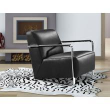 Divani Casa Bison - Modern Black Leather Lounge Chair