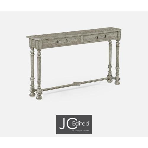 Console for Strap Handles in Rustic Grey