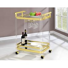 Aerin Server Cart, Gold