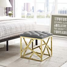 See Details - Intersperse Ottoman in Gold Gray