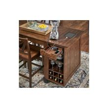Aberdeen Rustic Timber Paper Towel / Wine Rack Unit