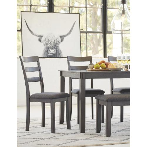 Bridson Dining Table and Chairs With Bench (set of 6)