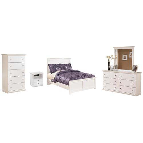 Ashley - Full Panel Bed With Mirrored Dresser and Chest