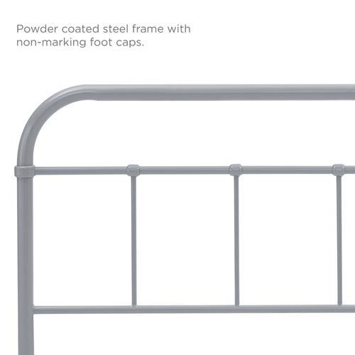 Modway - Serena Queen Steel Headboard in Gray