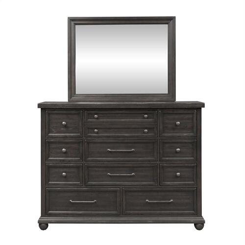 King California Panel Bed, Dresser & Mirror, NS