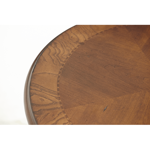 Victoria Palace Round End Table Light Espresso