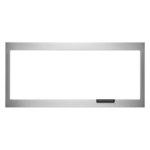 Built-In Low Profile Microwave Slim Trim Kit with Pocket Handle, Stainless Steel - Other