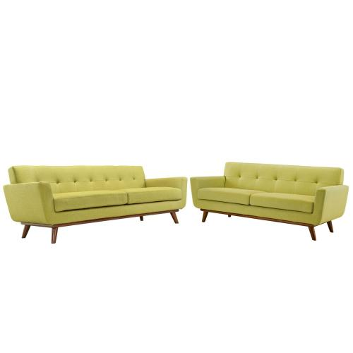 Modway - Engage Loveseat and Sofa Set of 2 in Wheat