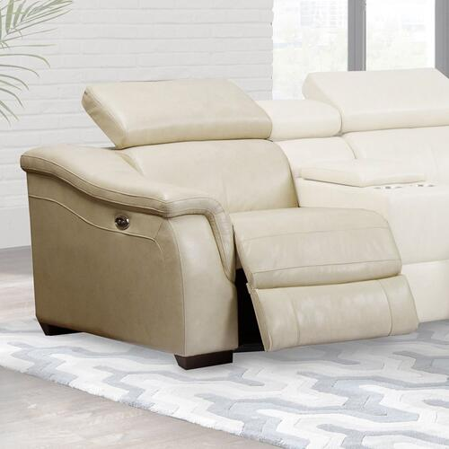 NEWTON - OATMEAL Power Left Arm Facing Recliner