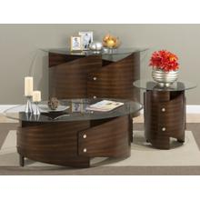 Waterville Walnut Oval Cocktail Table- Base Only