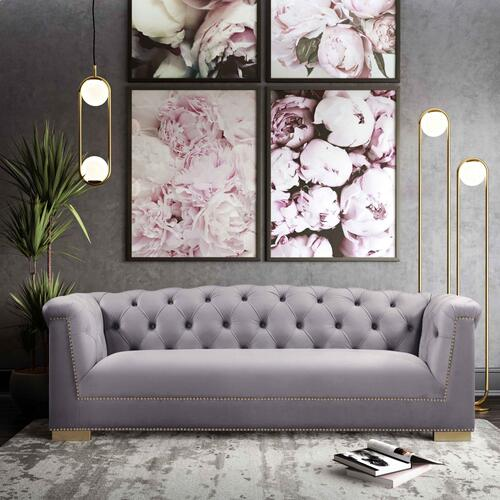 Tov Furniture - Farah Grey Velvet Sofa