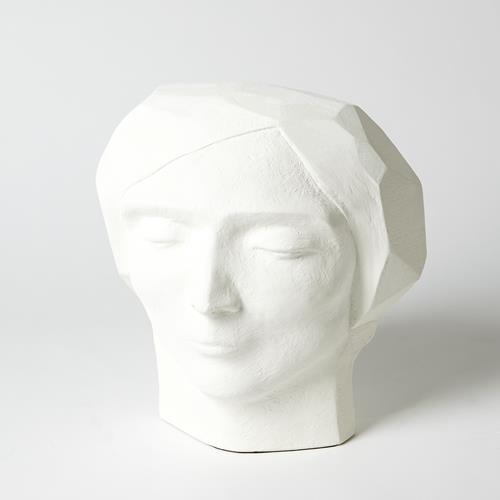 Plaster Faceted Bust-Male