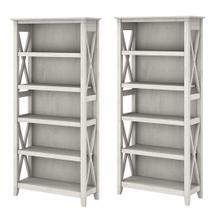 See Details - 5 Shelf Bookcase Set, Linen White Oak