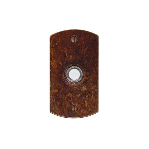 Curved Doorbell Button Silicon Bronze Light
