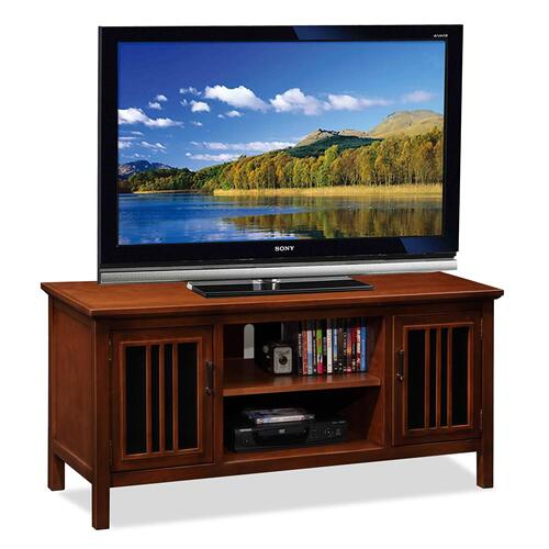 "Amber Cherry & Black Glass 50"" TV Console"
