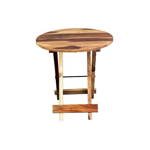 Porter International Designs - Sheesham Accents Round Folding Table, ART-271