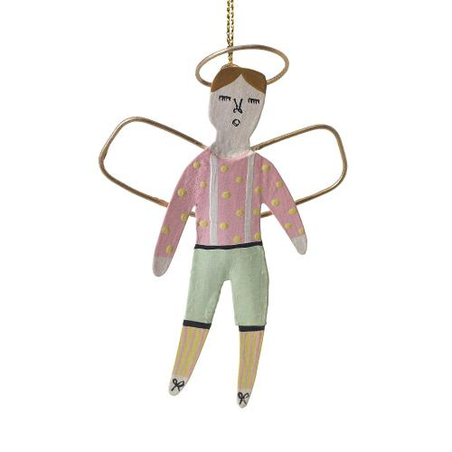 "4""H Pink Little Angel Ornament (Boy Option)"
