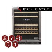 View Product - Kucht 48-Bottle Dual Zone Wine Cooler Built-in with Compressor in Stainless Steel