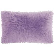 "Fur Fl101 Lavender 1'2"" X 2' Throw Pillow"