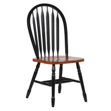 """See Details - Arrowback Dining Chair - Antique Black and Cherry (38"""")"""