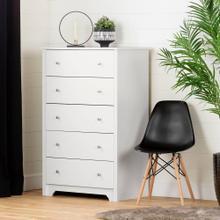 5-Drawer Chest Dresser - Pure White
