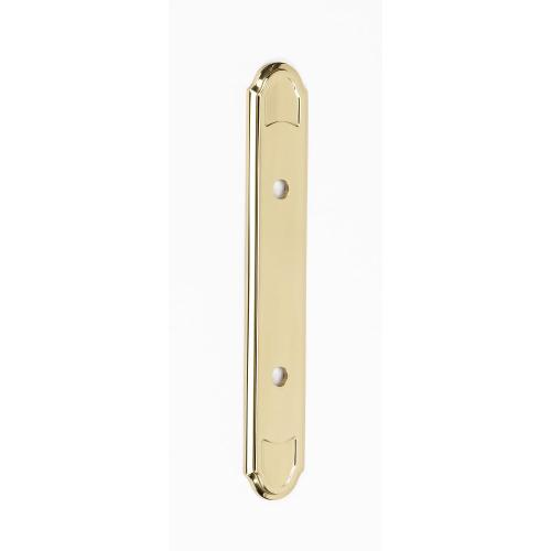 Classic Traditional Backplate A1569-35 - Polished Brass