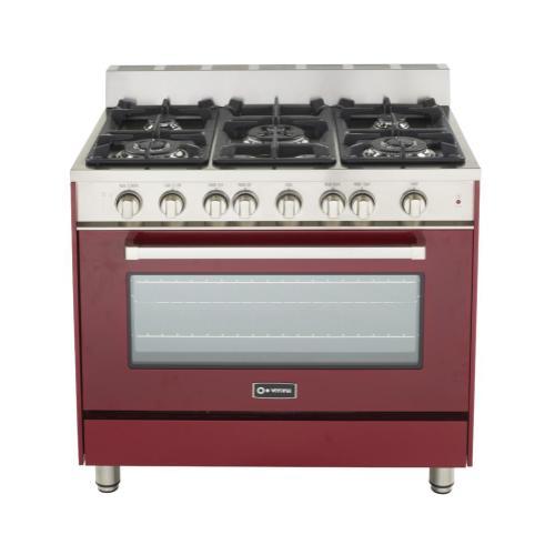 "Burgundy 36"" Gas Range with Single Oven"