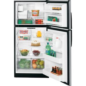 GE® 18.0 Cu. Ft. CleanSteel Top-Freezer Refrigerator
