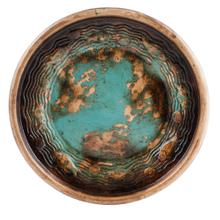 """See Details - Textured Turquoise 19"""" Plate"""
