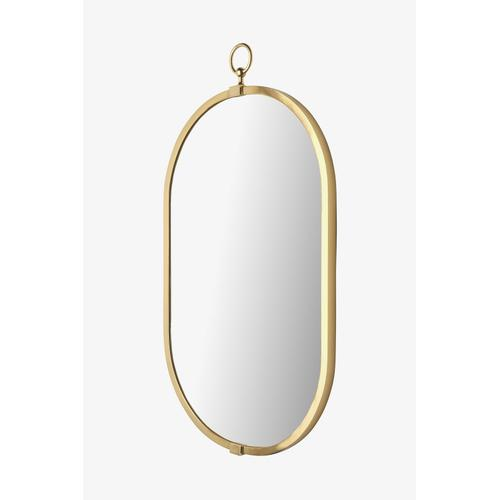 "Concord Wall Mounted Oval Mirror 19"" x 33 1/4"" in Polished Brass"