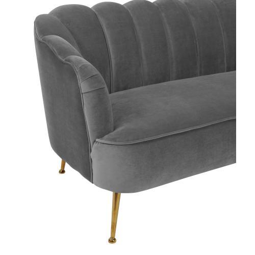 Tov Furniture - Daisy Petitie Grey Velvet Sofa