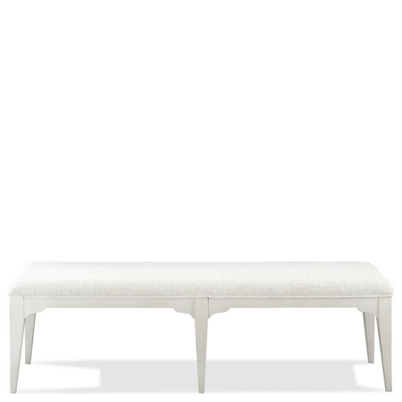 Riverside - Myra - Upholstered Dining Bench - Paperwhite Finish
