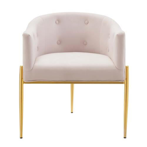 Savour Tufted Performance Velvet Accent Chairs - Set of 2 in Pink
